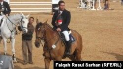 الفائز بالمركز الاول الفارس العراقي فالح الدليمي