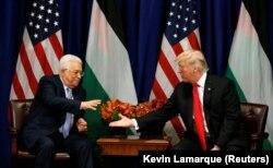 Переговоры Махмуда Аббаса и Дональда Трампа во время Генеральной ассамблеи ООН в Нью-Йорке, 20 сентября 2017 года