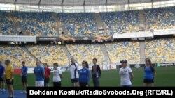 Розминка учасників тренування, НСК «Олімпійський», Київ, 17 вересня 2019 року