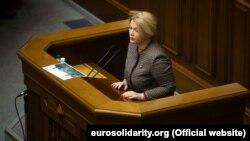 Депутат Верховної Ради Ірина Геращенко вимагає, щоб члени Кабінету міністрів прийшли на «годину уряду» до парламенту