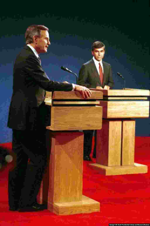 1988 год. Дебаты республиканский вице-президент Джордж Х.В. Буш начал с того, что спросил кандидата от Демократической партии Майкла Дукакиса, поддержит ли он смертную казнь, чтобы наказать того, кто изнасиловал и убил его жену. Этот вопрос давал возможность кандидату, прозванного критиками «ледяным человеком», продемонстрировать свою эмоциональную сторону. Его ответ сделал прямо противоположное. Буш одержал победу на выборах