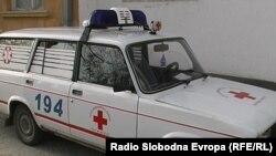 Автомобилите на брзата помош во Прилеп во распаѓање
