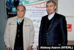 На Неделе иранского кино выступил посол Ирана в Казахстане Моджтаба Дамирчило (справа). Алматы, 21 октября 2014 года.