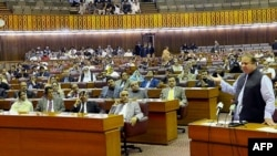 A file photo of the lower house of Pakistani parliament.