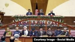 Президент Афганістану Ашраф Гані в парламенті, квітень 2015 року