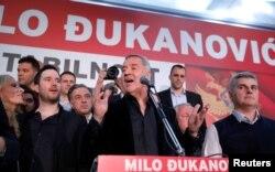 Обраний президент Чорногорії Міло Джуканович під час зустрічі із своїми прихильниками. Подгориця, 15 квітня 2018 року