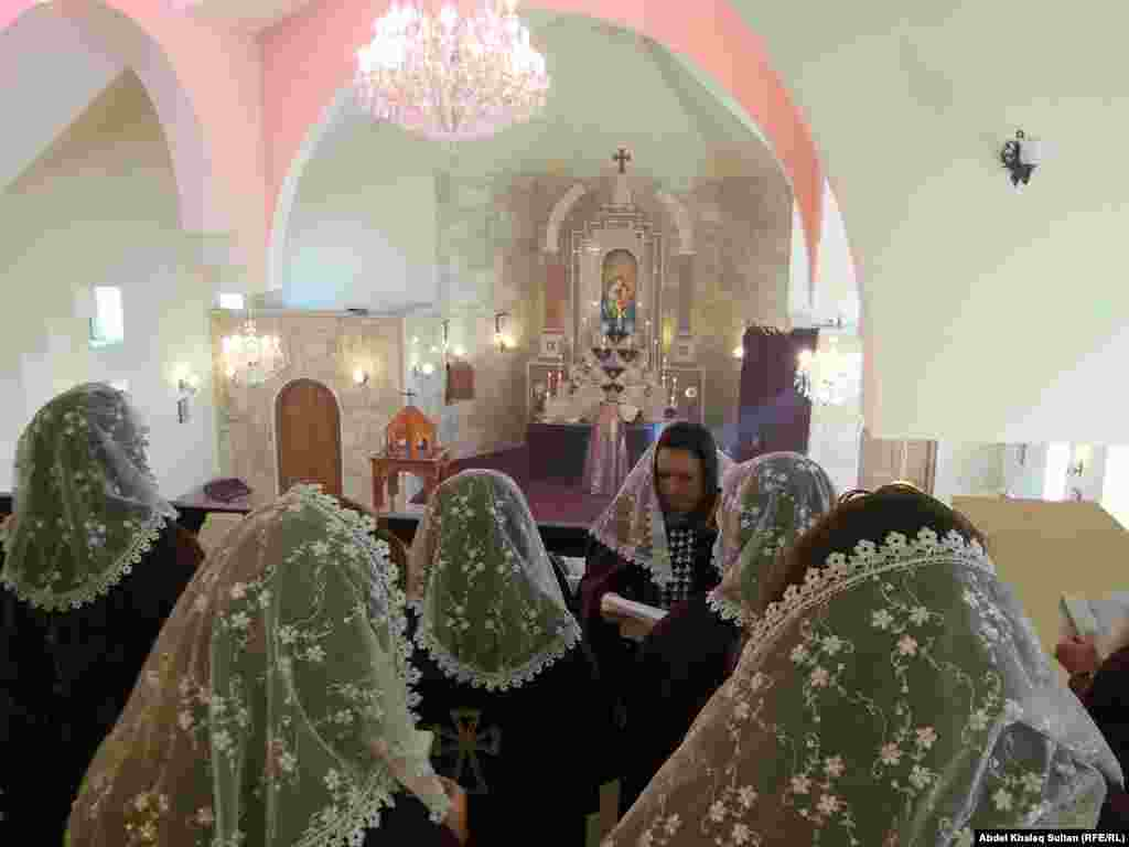 An Armenian church Christmas mass in Duhok, Iraq on January 6, 2014.