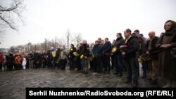 Молебен в память о погибших участниках Революции Достоинства, Киев, 18 февраля 2018 года