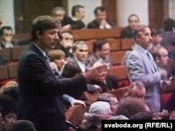 Аляксандар Шут выступае ў Вярхоўным Савеце, 1991 год