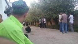 Омодагӣ ба маросими дафни Абдулаҳад Кабиров, сарбози ОМОН