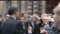 Obama întîmpinat de Sarkozy la Strasbourg