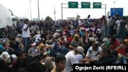 Біженці на угорсько-сербському кордоні. 15 вересня 2015 року