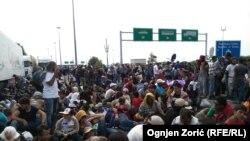 Refugjatët pranë kufirit me Hungarinë.
