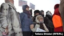 Митинг против повышения коммунальных тарифов в Новосибирске