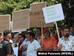 """Jedan od protesta radnika """"Krivaje"""""""