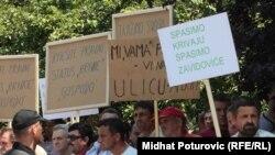 Sa jednog od protesta radnika Krivaje još 2010. godine