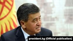 Kyrgyz President Sooronbay Jeenbekov (file photo)