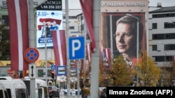 Предвыборная агитация в Риге за несколько дней до выборов. 3 октября 2018 года.
