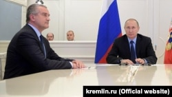 Сергей Аксенов и Владимир Путин