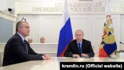 Сергій Аксьонов і Володимир Путін. Архівне фото
