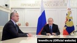 Сергій Аксьонов (л) і Володимир Путін, ілюстративне фото