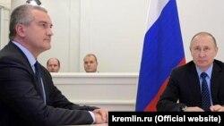 Сергей Аксенов и Владимир Путин (архивное фото)