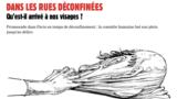 Pe stradă, după carantină. Ce s-a întâmplat cu fețele noastre? (desen în Charlie Hebdo, nr. 1453, 27 mai 2020)