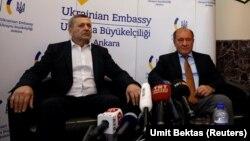 Ахтем Чийгоз и Ильми Умеров в посольстве Украины в Турции