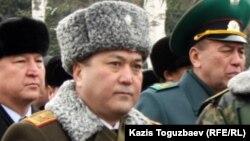 Шекара қызметі академиясының бұрынғы басшысы, генерал-майор Талғат Есетов. Алматы, 3 қаңтар 2013 жыл.