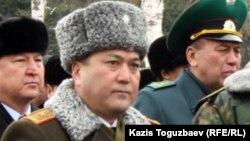 Шекара қызметі академиясының басшысы, генерал-майор Талғат Есетов. Алматы, 3 қаңтар 2013 жыл.