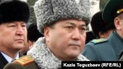 Генерал-майор Талгат Есетов, начальник Академии пограничной службы КНБ. Алматы, 3 января 2013 года.