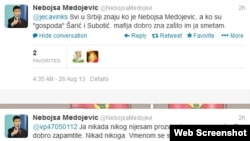 Sa Twitter naloga Nebojše Medojevića