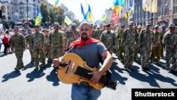 Під час Маршу ветеранів до Дня Незалежності України. Київ, 24 серпня 2019 року