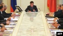 Preşedintele Medvedev la întrunirea Consiliului de Securitate de la Moscova