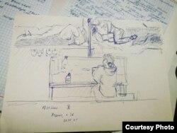 Дар'я Чачко, турэмныя малюнкі