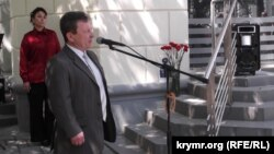 Председатель подконтрольного Кремлю ялтинского городского совета Валерий Косарев, 7 мая 2015 года
