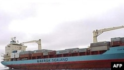 """The """"Maersk Alabama"""" container ship, whose captain was kidnapped."""
