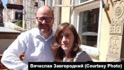 Вячеслав Завгородний с мэром Гданьска Павлом Адамовичем в 2017 году
