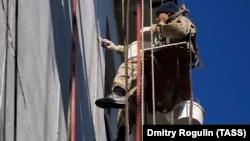 Фасадные работы в рамках капитального ремонта жилого дома