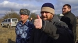 CHECHNYA -- Chechen leader Ramzan Kadyrov gestures as he visits the site where six armed militants led by Aslan Byutukayev were killed by egional security forces and police, January 21, 2021