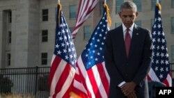 ادای احترام اوباما به قربانیان حملات ۱۱ سپتامبر