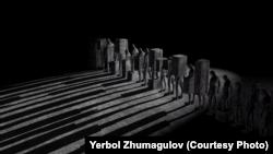 Кадр документального фильма режиссера Ербола Жумагулова «Слух камней. Опыты деколонизации».