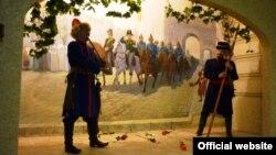 """Башкортстанның милли музеенда """"1812 ел сугышында башкортлар"""" дип аталган күргәзмә экспонаты."""