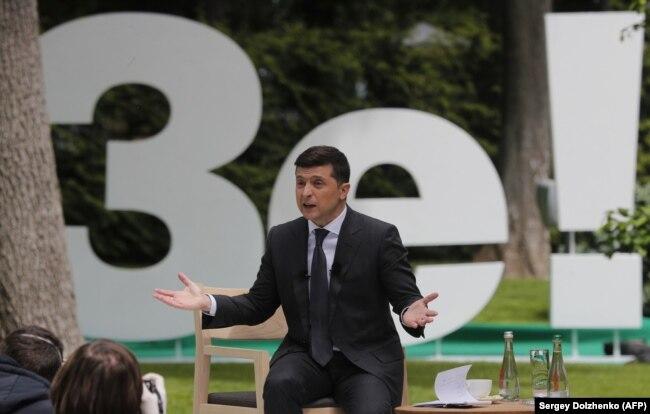 Президент України Володимир Зеленський під час пресконференції. Київ, 20 травня 2020 року
