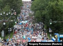 Протесты в Хабаровске. Июль 2020 года