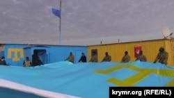 Чонгар. День сопротивления российской оккупации Крыма на админгранице, 26 февраля 2016 года