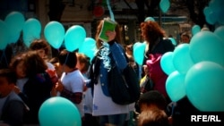 Kosovo - Marching for autism