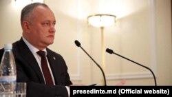 Президент Игорь Додон.