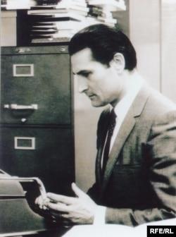 Азатлык радиосында, Нью-Йорк, 1958. Гариф Солтан архивыннан