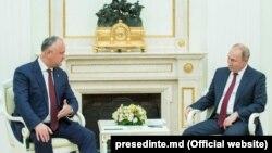 Vladimir Putin și Igor Dodon